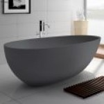Bahama Cast Stone Bathtub Matte Gray
