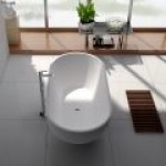NERO 1550 Matte White Stone Bathtub