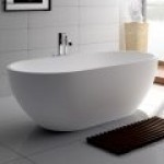 NERO 1780 Matte White Stone Bathtub