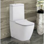 Lincoln Back-to-Wall Rimless Nano-Glaze Toilet Suite