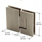 Brushed Nickel  L Shape Shower Screen Hinge H10-BN