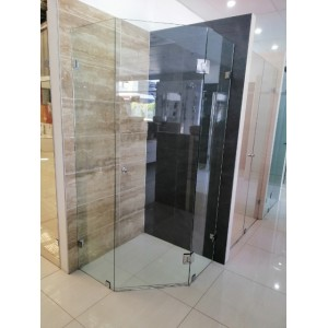 Frameless Diamond Shower Screen  900 * 900*2000