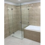 Australia custom made frameless shower screen L shape (1100-1200)*(1100-1200)*2000H