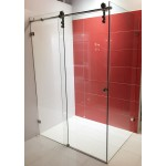 Frameless Sliding Door Shower Screen 1200-1500*1000