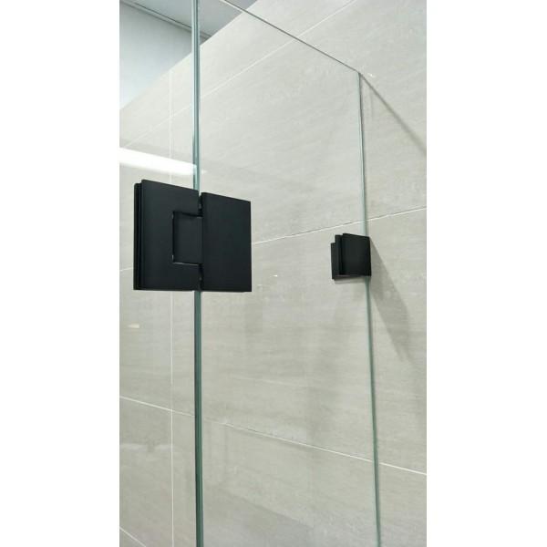 ... Matte Black L Shape Shower Screen Hinge H10 B ...