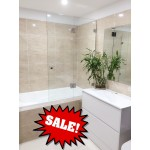 Frameless Over Bath Tub Panel & Door-1000