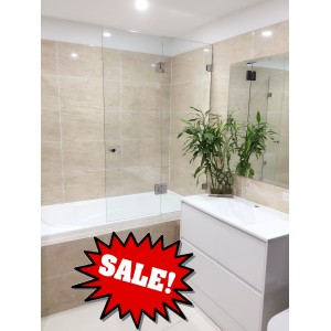 Frameless Over Bath Tub Panel & Door-900
