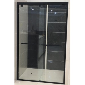 Marini Matte Black Semi-Frameless Wall To Wall Sliding Door 1100-1200 * 1950